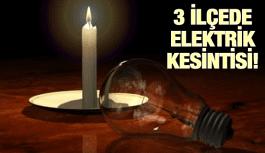MANİSA'NIN 3 İLÇESİNDE ELEKTRİK KESİNTİSİ