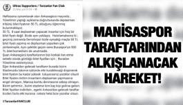 MANİSASPOR TARAFTARINDAN ALKIŞLANACAK HAREKET