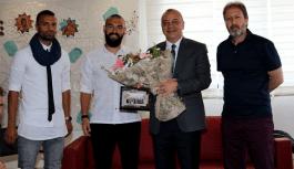 Şampiyondan Başkan Ergün'e Teşekkür Ziyareti