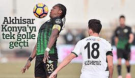Akhisar Belediyespor Konya'yı tek golle geçti