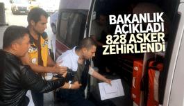 Bakanlık açıkladı Manisa'da 828 asker zehirlendi