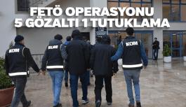 Manisa'da FETÖ operasyonu 5 gözaltı 1 tutuklama