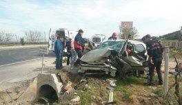 Manisa'daki kazada ağır yaralanan sürücü...