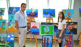 Özel Türk Koleji'nin resim sergisi büyük beğeni aldı