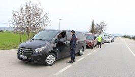 Manisa'da bin 521 araç geri çevrildi