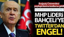 MHP Lideri Bahçeli'ye Twitter'den engel