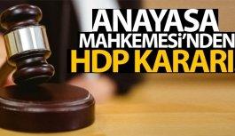 Anayasa Mahkemesi'nden HDP kararı