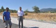 Demirci'nin Köy Yollarına Asfaltlama Çalışması