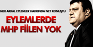TAMER AKKAL MHP EYLEMLERDE FİİLEN YOK