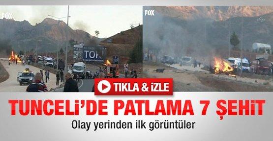 Tunceli'de Patlama 7 Şehit Video Haber