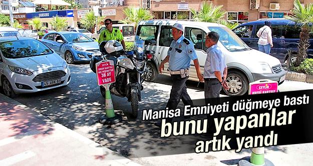 Yolda park yeri ayıran işletmelere 318'er lira ceza