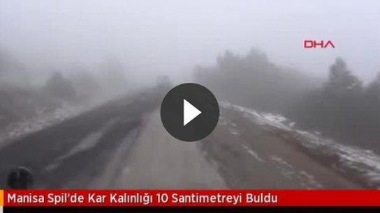 Spil'de kar kalınlığı 10 santimetreyi buldu