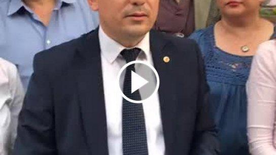 İYİ Parti Manisa Milletvekili adayı Hasan Eryılmaz standın hukuksuzca yıkılmaya çalışılmasını çok sert dille eleştirdi