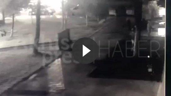 Manisa'daki cinayet güvenlik kameralarınca görüntülendi