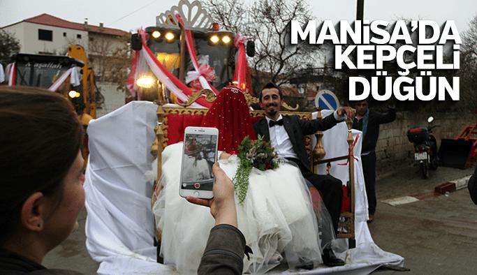 Manisa'da kepçeli düğün