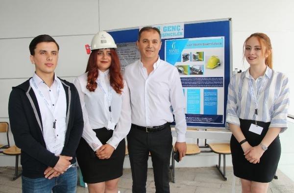 Öğrencilerinden maden kazalarına karşı gaz ölçüm bareti