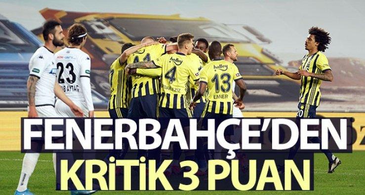 Emre Belözoğlu ilk maçında kazandı! Hem Samatta hem Fenerbahçe geri döndü: 1-0