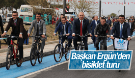BAŞKAN ERGÜN'DEN BİSİKLET TURU