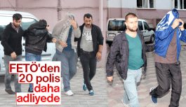 MANİSA'DA FETÖ'DEN 20 POLİS DAHA ADLİYEDE