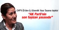 CHP'li Sakine Öz'den İç Güvenlik Yasa Tasarısı tepkisi